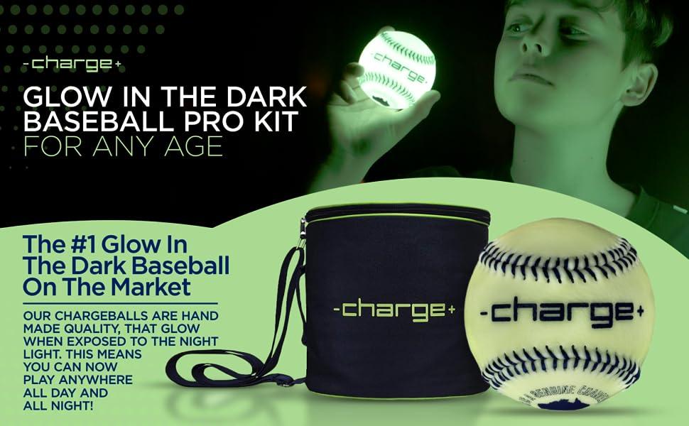 CHARGEBALL Glow in The Dark baseball pro kit