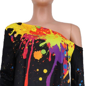 colorful print top