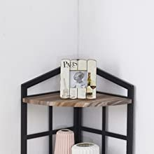 industrial corner shelf