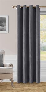 Homeideas Blackout Wave Line Curtains