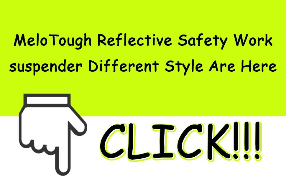 Reflective Safety Suspenders Work Suspenders with Hi Viz Reflective Strip Hold Up