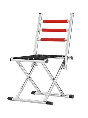 portable folding chair with backrest