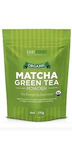 matcha green tea powder packet