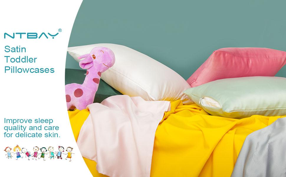 satin toddler pillowcases