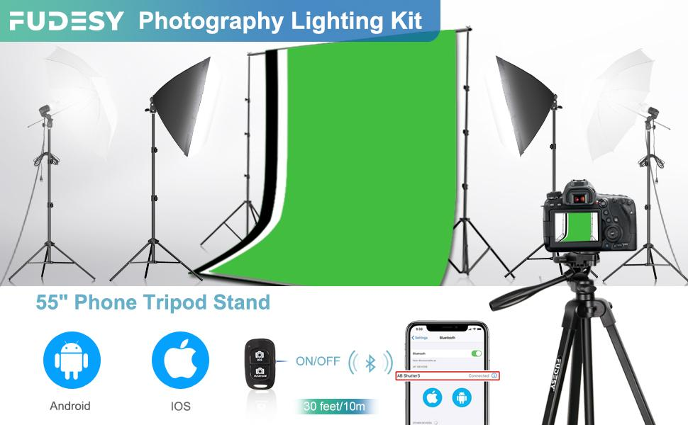 photography lighting kit with backdrop
