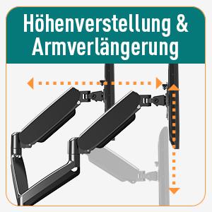 Höhenverstellbar & Armverlängerung