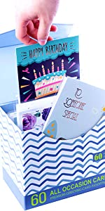 60 all occasion greeting cards individual wrapped greeting cards