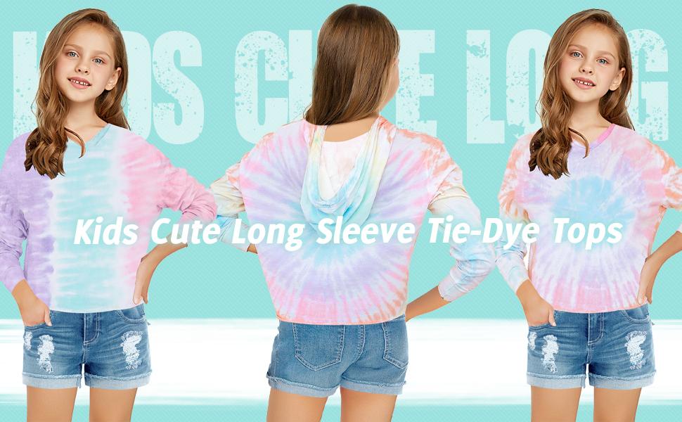 Girls Tie Dye Hoodies