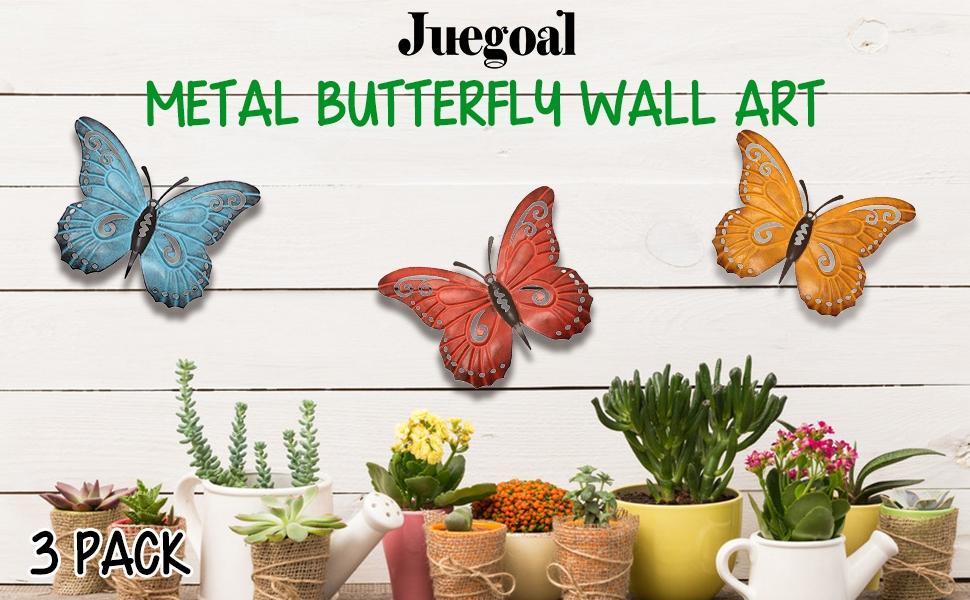 Metal Butterfly Wall Art