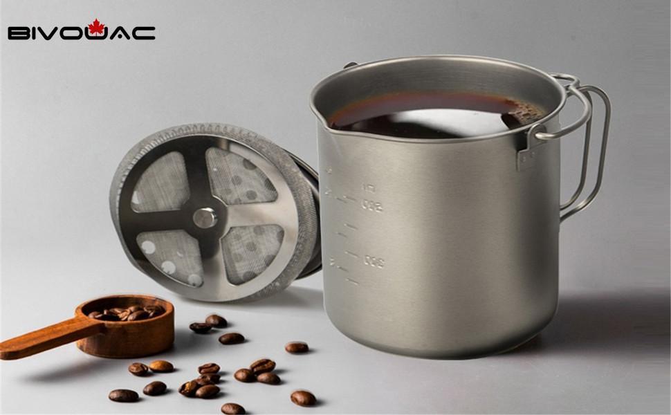 Titanium French Press Coffee Pot