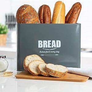 kitchen bread box, metal bread box, bread storage box, bread box set, container for bread