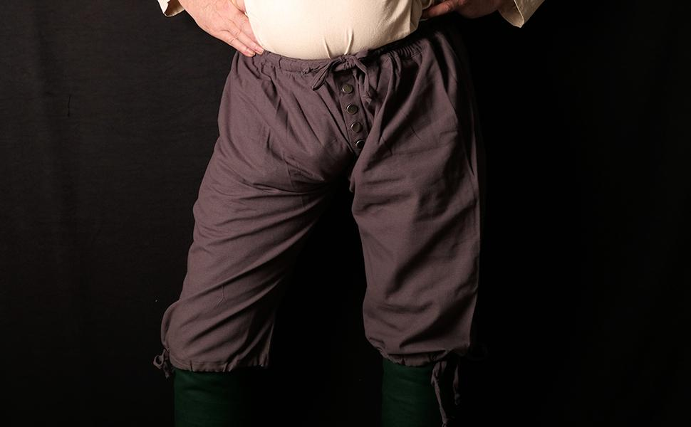 Mythrojan Pirate Cotton Breeches Canvas Captain Jack Sparrow halloween costume LARP cosplay GN SCA