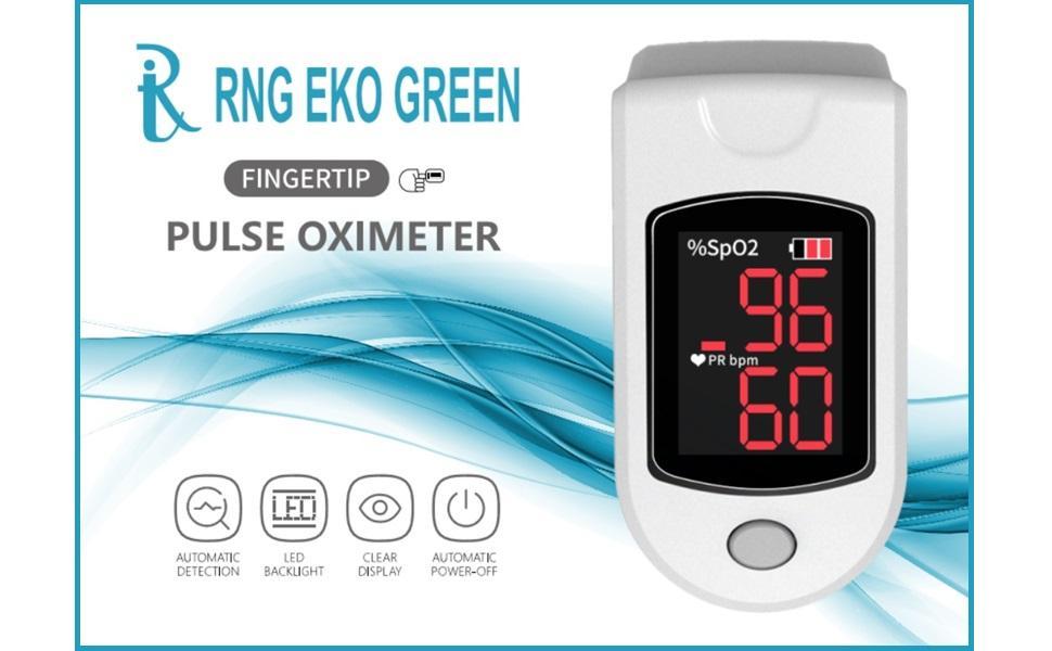 RNG EKO GREEN Fingertip Pulse Oximeter