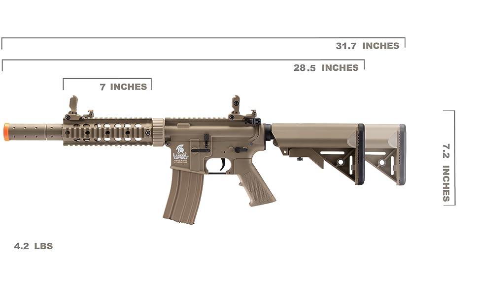 LT-15T M4 SD Metal Gear Airsoft Rifle Gun AEG Full/Semi Automatic Tan 400 FPS…