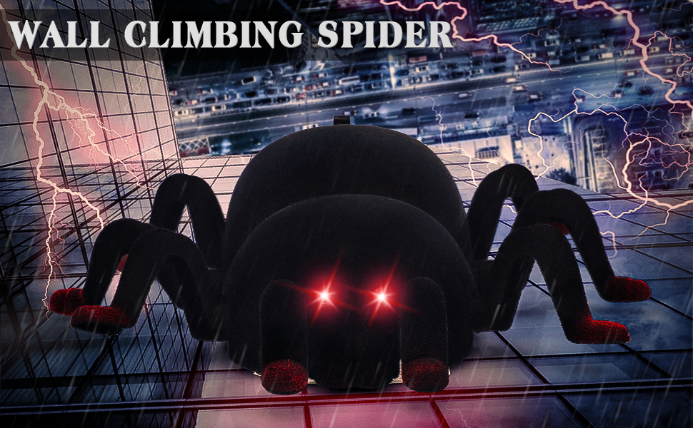 Wall Climbing Remote Control Spider - Red eyes