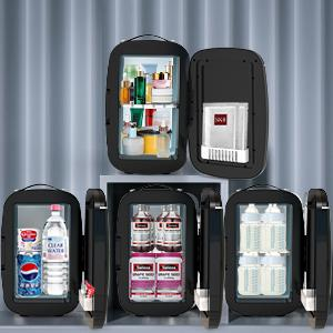 portable fridge, portable refrigerator, mini cooler, mini makeup fridge, compact refrigerator,