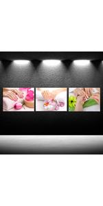 Canvas Wall Art Spa Pedicure Treatment Posters and Prints Nail Foot Massage Salon photo
