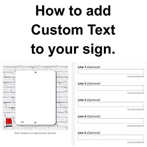 How to add your custom text