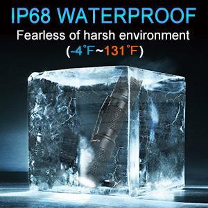 IP68 rated waterproof