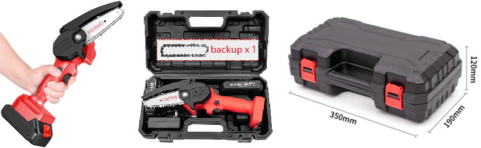 kettingzaag met batterij, elektronische kettingzaag, draagbare mini-kettingzaagbatterij