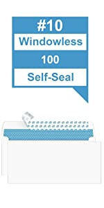 #10 Security Envelopes Self-Seal 100 Count