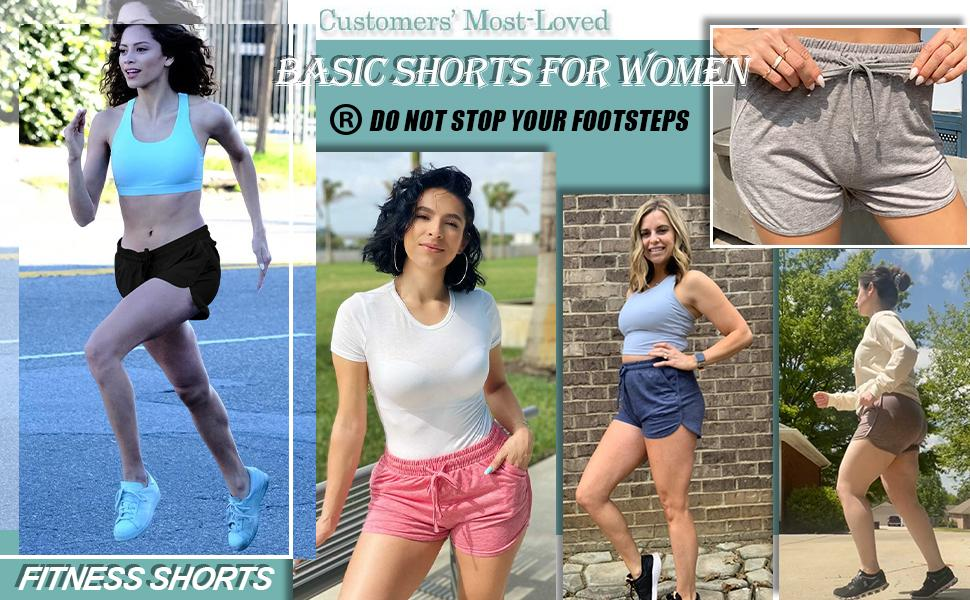 Running shorts for women with pockets