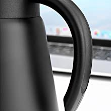 Handle of the coffee carafe