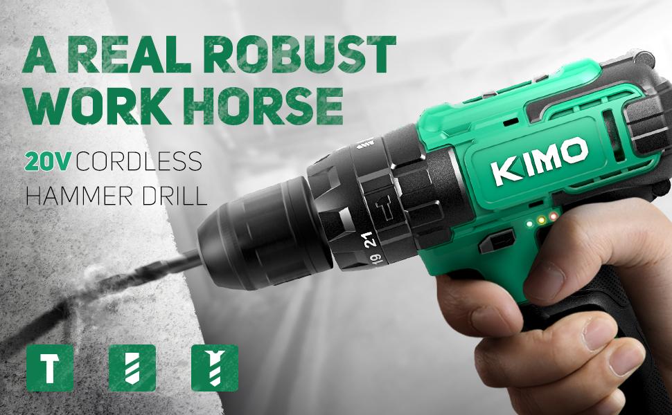 KIMO Cordless Drill Set