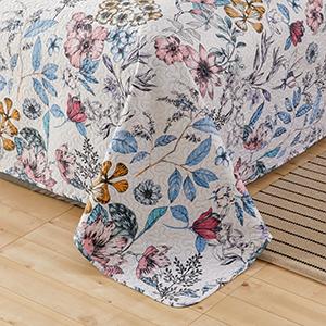 floral bedspread coverlet