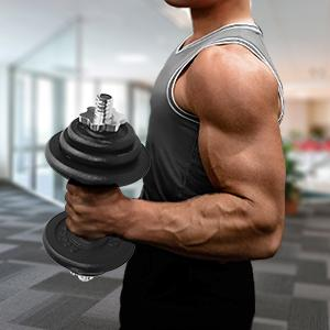 Weight plate for dumbbell