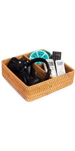 wicker storage baskets compartment organizer square storage basket basket divider toilet tank topper