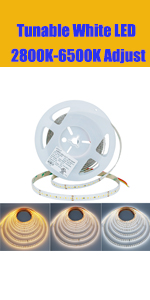 tunable white led light strip