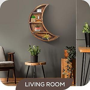living room moon shelf