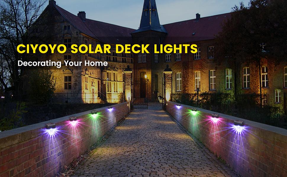 Solar Deck Lights, Outdoor Lighting Backyard Decor