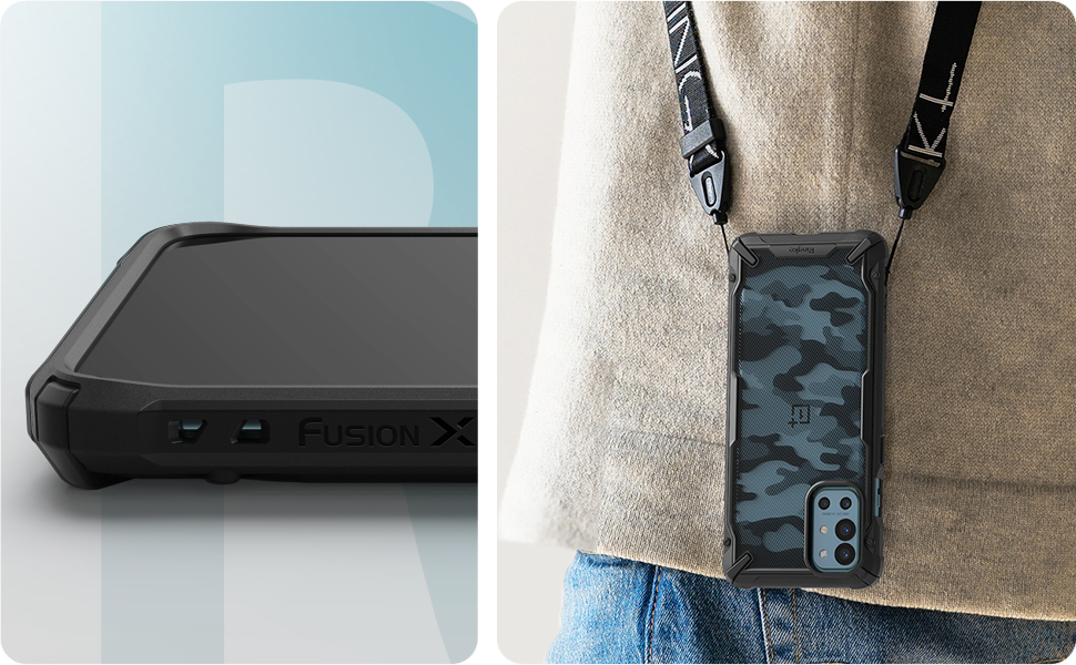 Ringke Fusion-X Case compatible with OnePlus 9R
