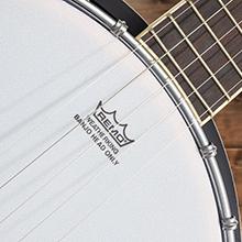 Ashthorpe five string banjo, white frosted head remo head, fret board, chrome bracket, mahogany neck