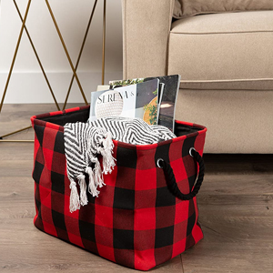Poly Buffalo Check Storage Bin for Home or Office