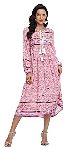 Bohemian Midi Dresses