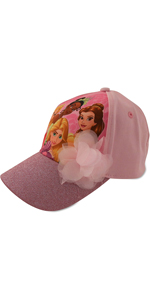 Disney Princess Cotton Baseball Cap with Glitter Pom