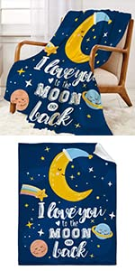 I Love You to The Moon and Back Throw Blanket Super Soft