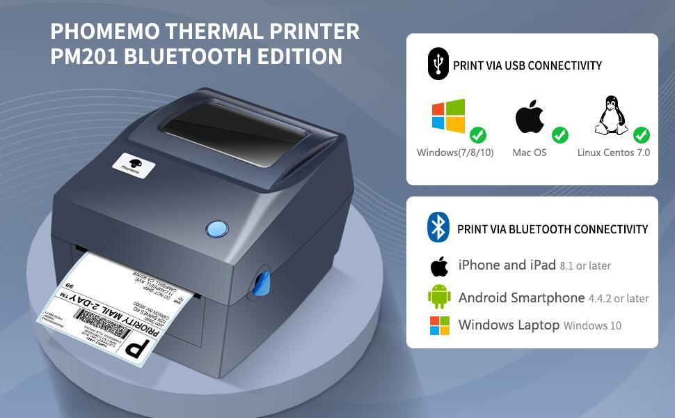 shipping label printer bluetooth