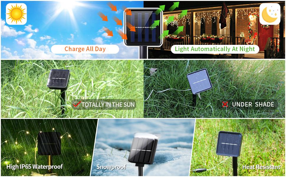 Sumkyle Solar String Lights Outdoor