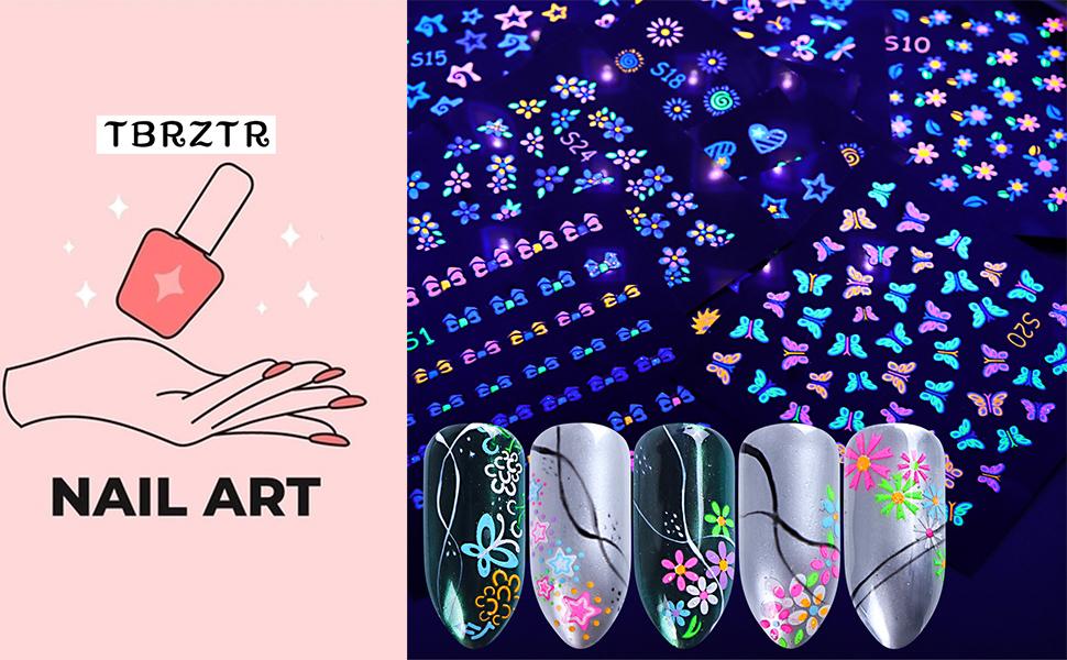 Fluorescent Nail Art Stickers
