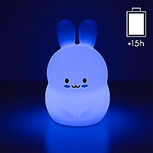 Silikon djur med nattlampa och inställbar timer
