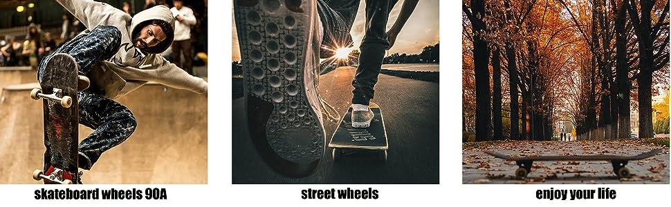 skateboard wheels 90A; street wheels; enjoy your life