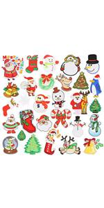 30 Pieces Christmas Series Iron on Patches