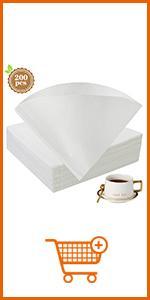 V02 White Coffee Filter Paper