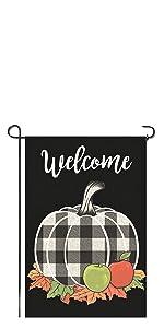 buffalo pumpkin black fall autumn thanksgiving gift flag garden yard