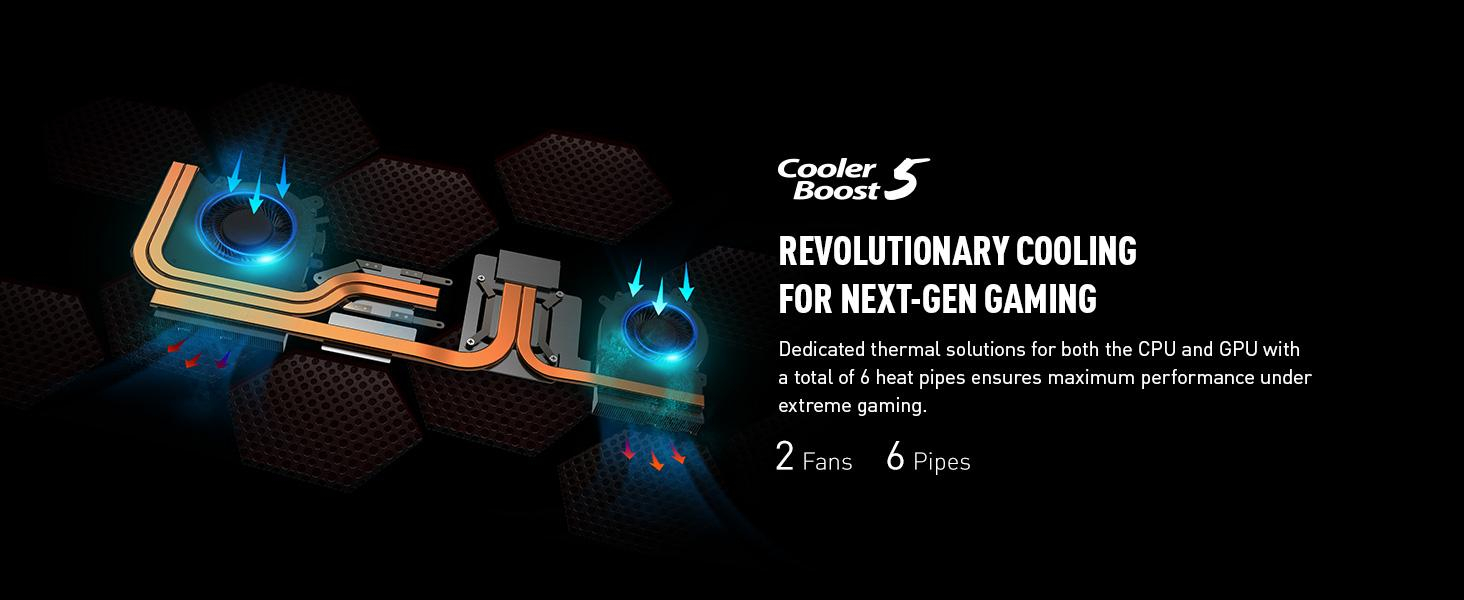 cooler boost 5 thermals cooling airflow heat dissipation low temperatures