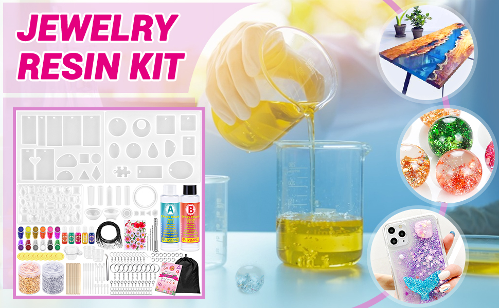 Resin Molds Kit for Jewelry Making